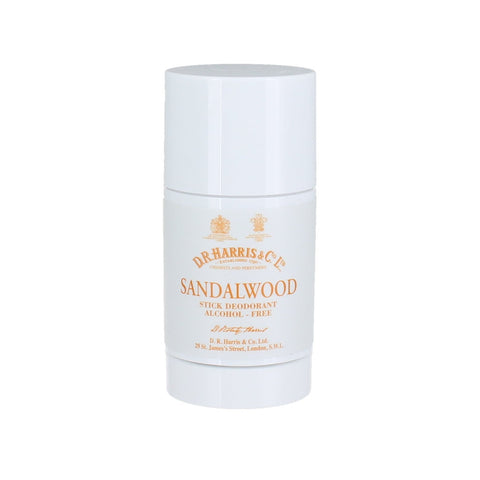 D R Harris Sandalwood Stick Deodorant Alcohol-free 75g