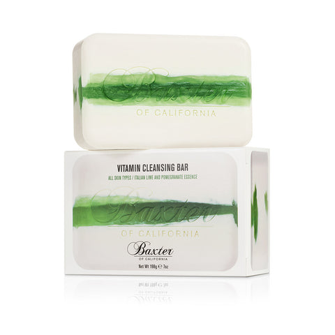 Baxter of California Vitamin Cleansing Bar 198g (Italian Lime & Pomegranate)