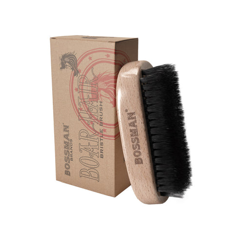 Bossman Hand Held Boar & Nylon Bristle Brush