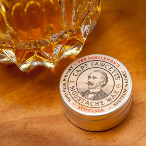 Captain Fawcett's Moustache Wax Stiffener Malt Whiskey 15ml - FineShave