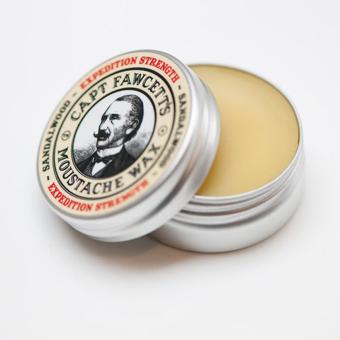 Captain Fawcett's Sandalwo Moustache Wax Firm Hold - FineShave