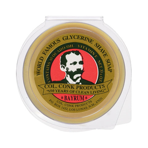 Col. Conk Bay Rum Glycerin Shaving Soap (large puck 106g)
