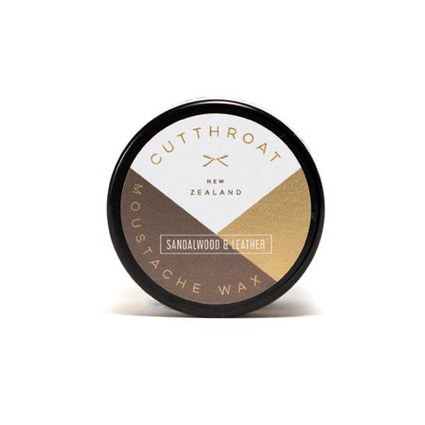 Cutthroat Sandalwood & Leather Moustache Wax 20g