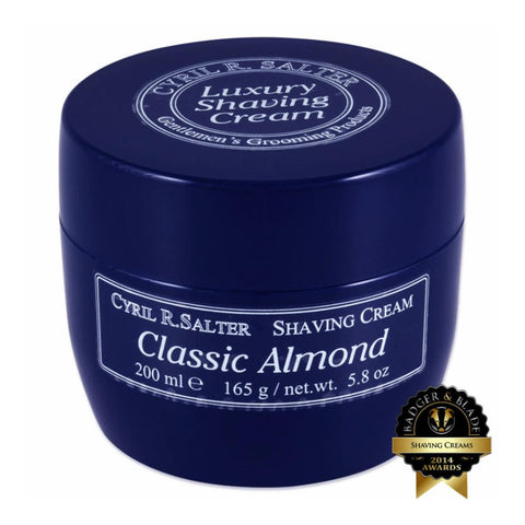 Cyril R. Salter Luxury Shaving Cream (Almond) - FineShave