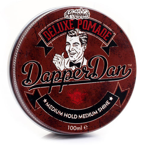 Dapper Dan Deluxe Pomade 100ml (Medium Hold) - FineShave