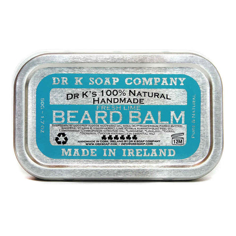 Dr. K's 100% Natural Handmade Beard Balm Fresh Lime 50gr - FineShave