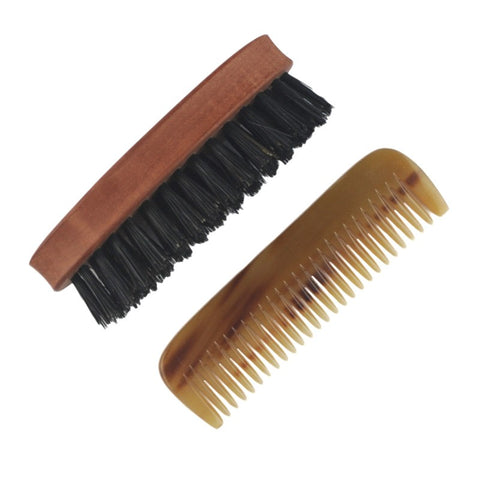 Dr Dittmar Beard Kit - Comb and Small Oval Brush - FineShave