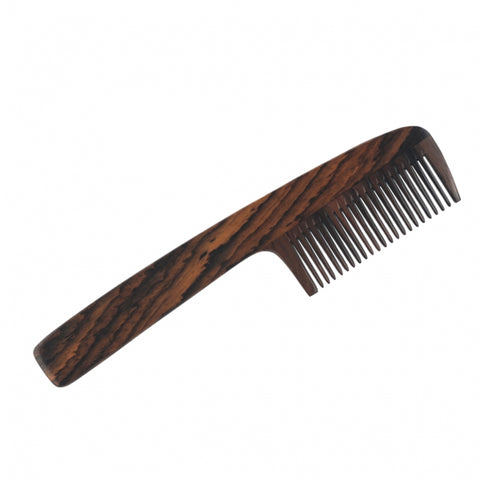 Dr Dittmar Long Handle Beard Comb Genuine Rosewood - FineShave