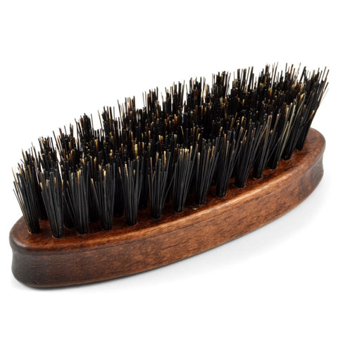Dr Dittmar Small Oval Beard Brush (dark wood) - FineShave