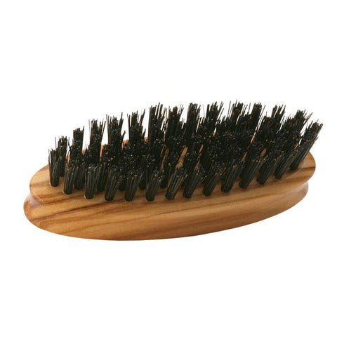 Dr Dittmar Small Oval Beard Brush (Olive Wood) - FineShave