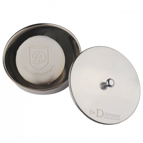 Dr Dittmar Stainless Steel Shaving Bowl with lid (large) - FineShave