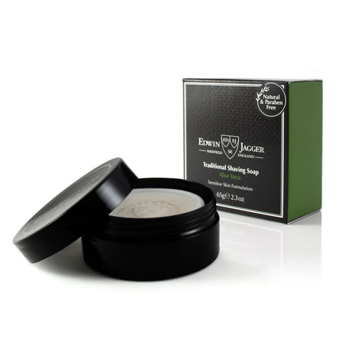 Edwin Jagger Aloe Vera Shaving Soap in Travel Tub - FineShave
