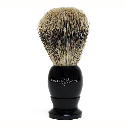 Edwin Jagger Best Badger Shaving Brush Black - FineShave