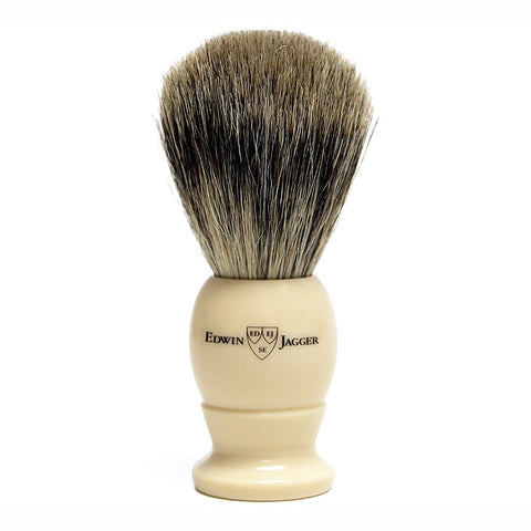 Edwin Jagger Best Badger Shaving Brush Ivory - FineShave