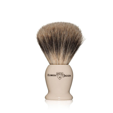 Edwin Jagger Best Badger Travel Shaving Brush & Tube (Ivory) - FineShave