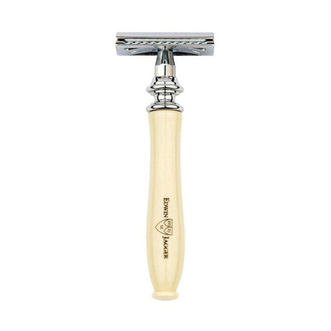 Edwin Jagger Chatsworth Classic Safety Razor (Imitation Ivory) - FineShave