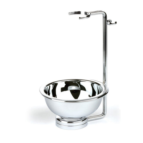 Edwin Jagger Chrome Double Wire Razor & Brush Stand with Bowl - FineShave