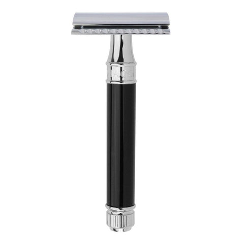 Edwin Jagger DE86 Safety Razor (Black) - FineShave