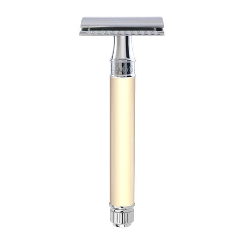 Edwin Jagger DE87 Long Handle Safety Razor (Ivory)