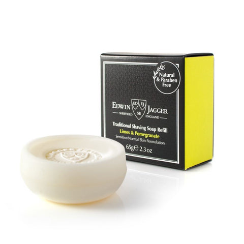 Edwin Jagger Limes & Pomegranate Shaving Soap - FineShave
