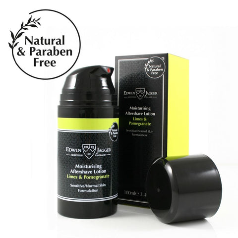 ! PRICE DROP ! - Edwin Jagger Moisturising Aftershave Lotion Limes & Pomegranate 100ml - FineShave