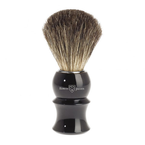 Edwin Jagger Pure Badger Shaving Brush Black - FineShave