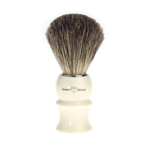 Edwin Jagger Pure Badger Shaving Brush Ivory - FineShave