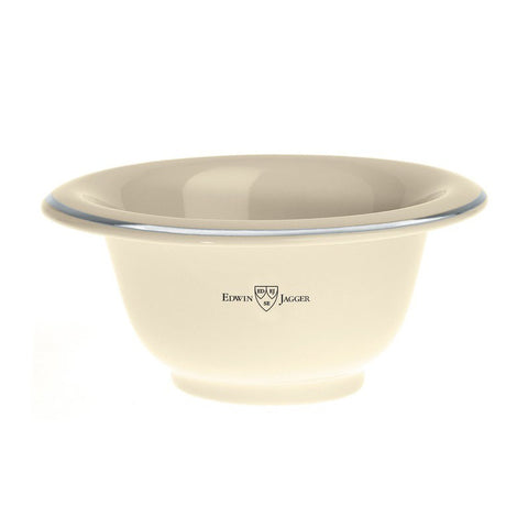 Edwin Jagger Shaving Bowl (ivory porcelain with silver rim) - FineShave