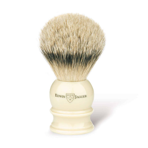 Edwin Jagger Silvertip Badger Shaving Brush Ivory (Large) - FineShave