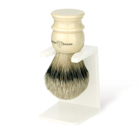 Edwin Jagger Silvertip Badger Shaving Brush Ivory (Medium) - FineShave