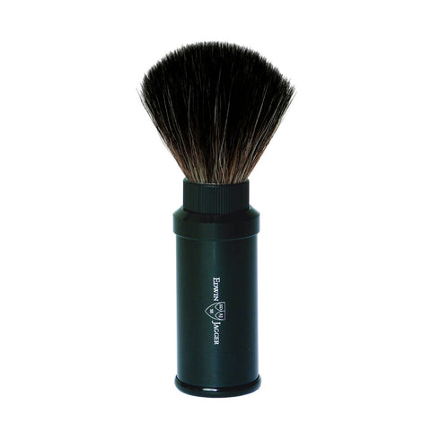 Edwin Jagger Travel Shaving Brush Fibre (Black) - FineShave