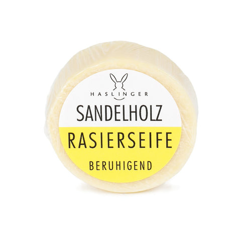 Haslinger Sandalwood Shaving Soap 60gr (Tin bowl) - FineShave