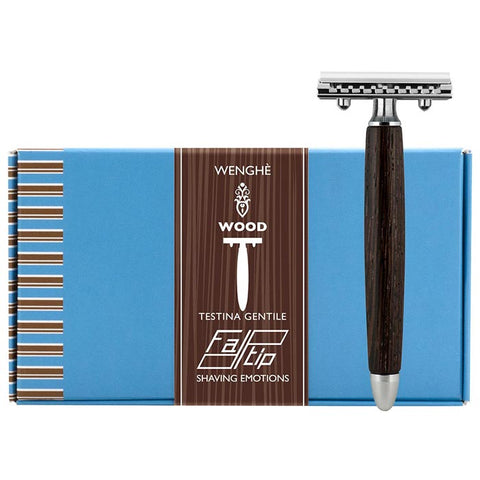 "Fatip Wenghe Wood ""Gentile"" Closed Comb Safety Razor - FineShave"