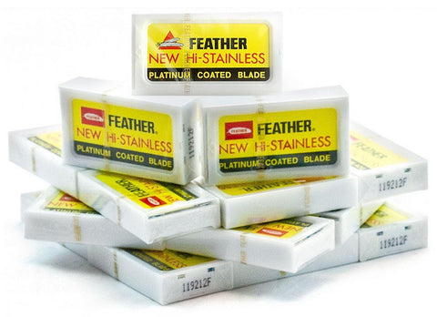 Feather Hi-Stainless Platinum  100x Blade Pack - FineShave