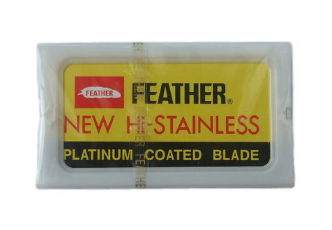 Feather Hi-Stainless Platinum, 10x Blades - FineShave