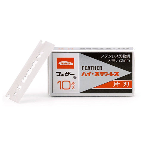 Feather Single Edge FHS-10 (10x Hi-Stainless Blades) - FineShave