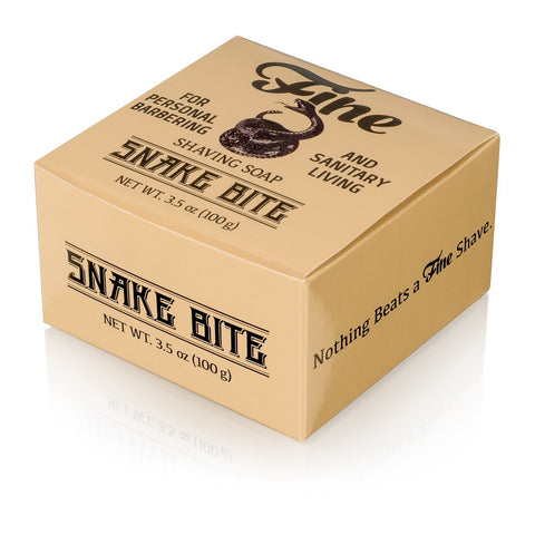 Fine Accoutrements Classic Snake Bite Shaving Soap in a Tub 100g - FineShave