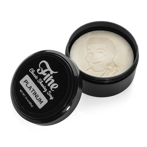 Fine Accoutrements Classic Platinum Shaving Soap in tub 100g - FineShave
