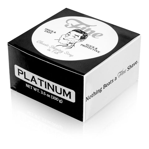 Fine Accoutrements Classic Platinum Shaving Soap in a Tub 100g - FineShave