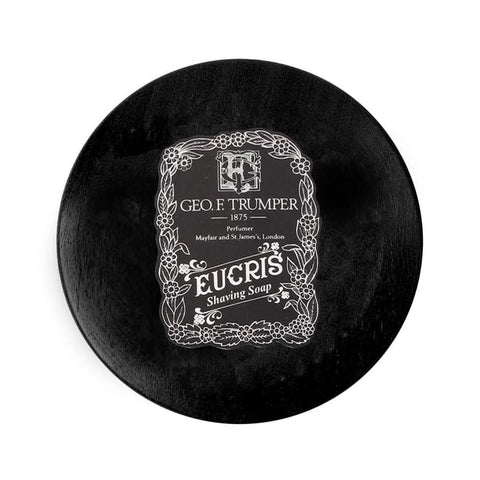 Geo. F. Trumper Eucris Hard Shaving Soap 80g Wooden Bowl - FineShave