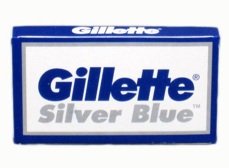 Pack of 5x Gillette Silver Blue Razor Blades - FineShave