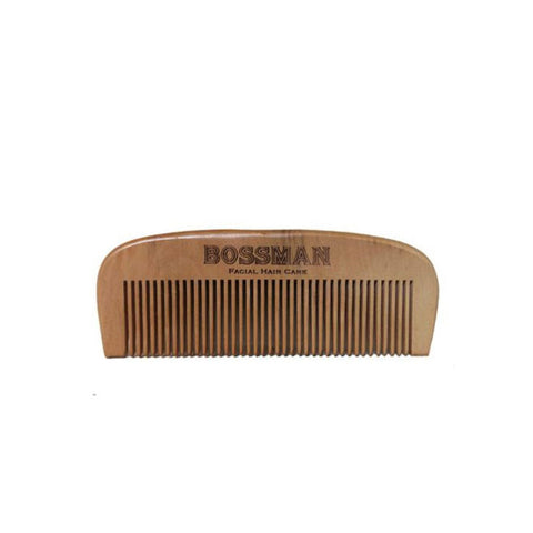 Bossman Pear Wood Comb - FineShave