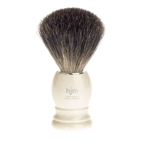 HJM Badger Shaving Brush by Mühle (Ivory) - FineShave