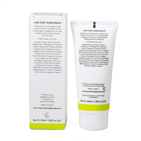 Alexander Simpson Est. 1919 Lime Post Shave Balm 100ml