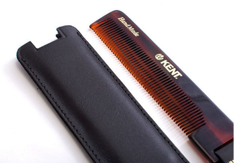 Kent Handmade Comb in Leather case NU22 - FineShave