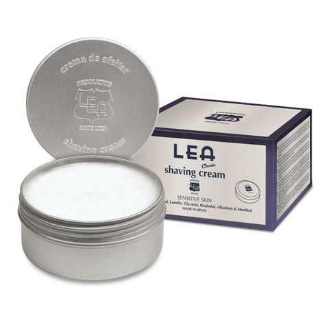 LEA Classic Shaving Cream 150gr in Tin Bowl - FineShave