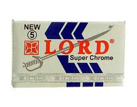 Pack of 5x Lord Super Chrome Razor Blades - FineShave