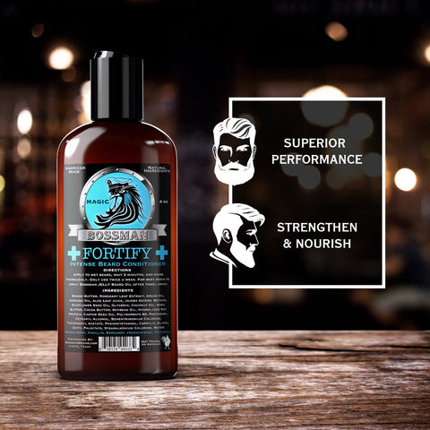 Bossman Fortify Intense Beard Conditioner Magic Blue 118ml - FineShave