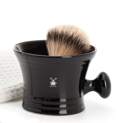 Mühle Shaving mug (black porcelain) - FineShave