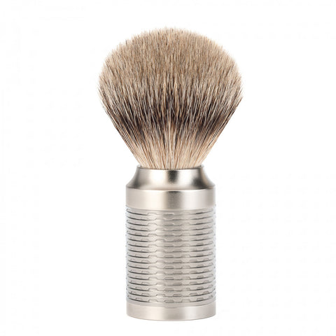 Mühle ROCCA Silvertip Badger Shaving Brush (Stainless Steel)